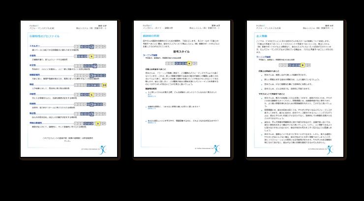 特定の職務における 理想的な人物像 を定義し 成功の可能性を測定 Profilext アセスメント サイコム ブレインズ株式会社