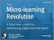 The Micro-learning Revolution Abold new model for developing organizational talent